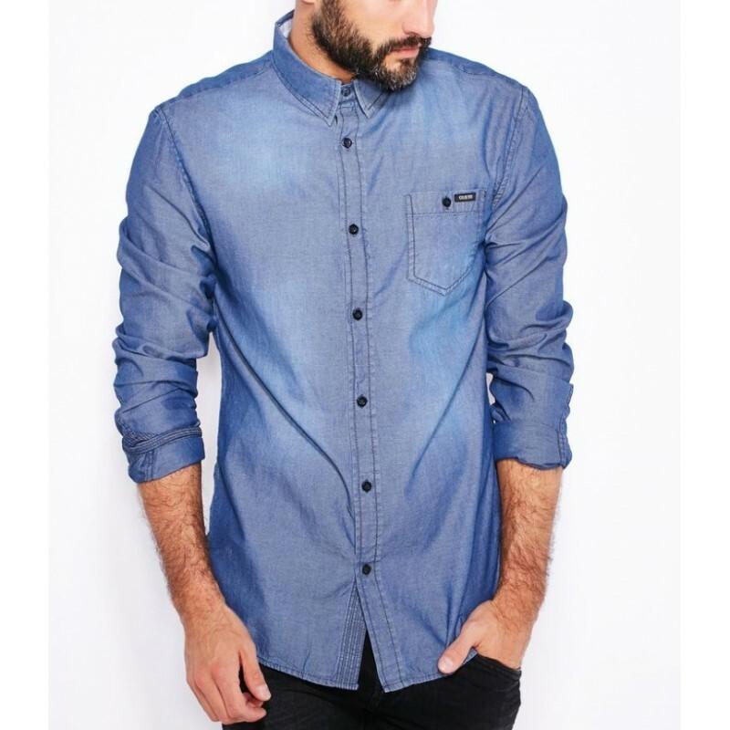 Guess pánská modrá košile - Mode.cz f610f1a098