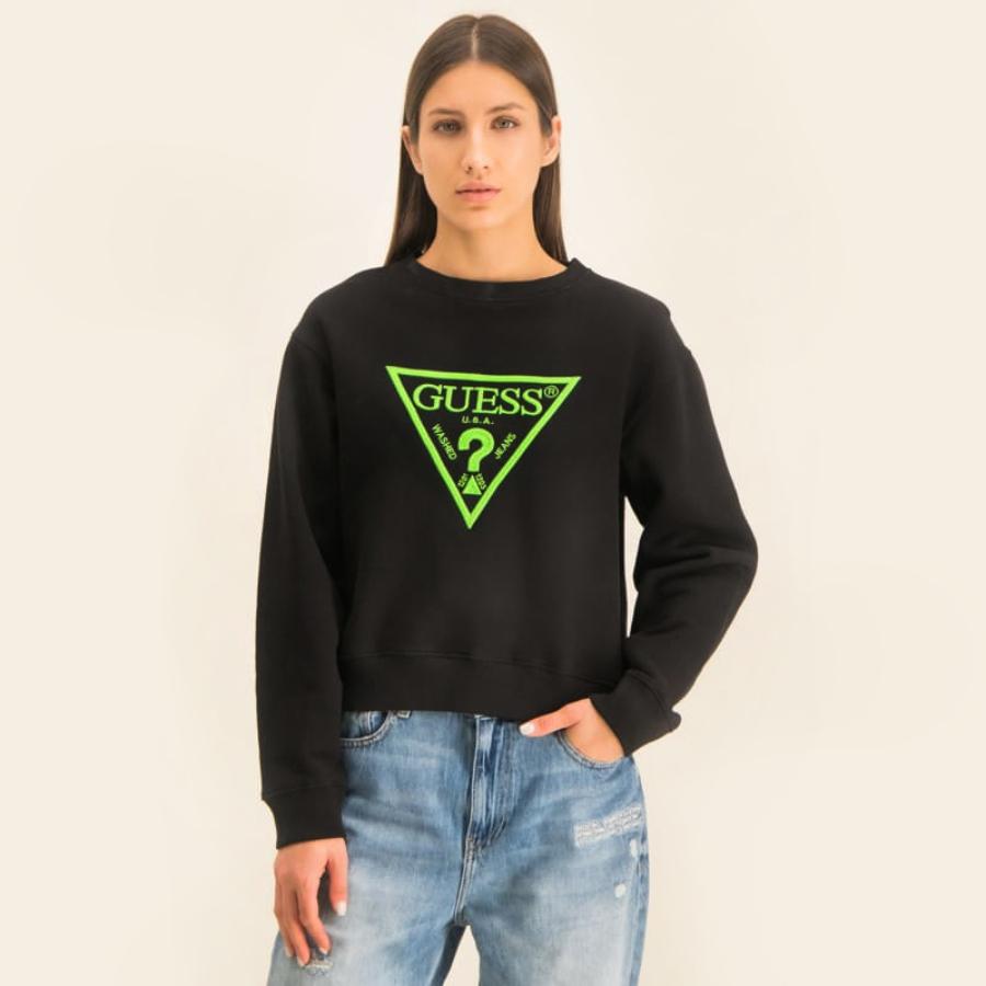 Guess dámská černá mikina Neon Logo