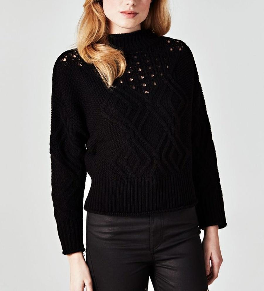 Guess dámský černý svetr se stojáčkem