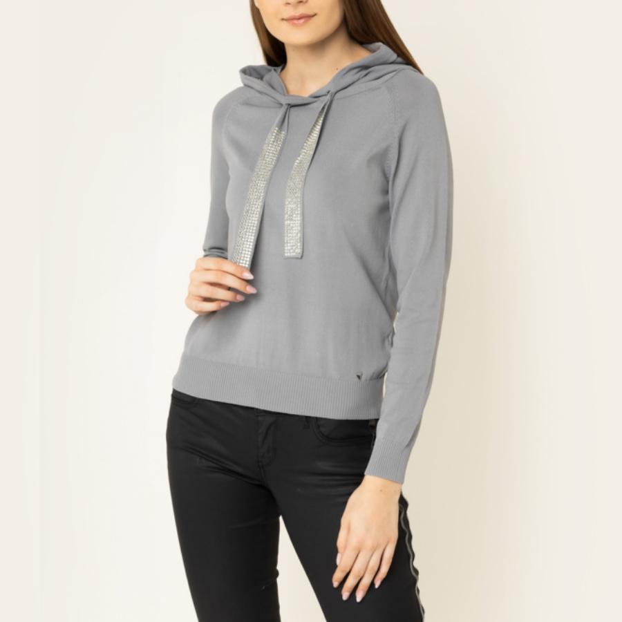 Guess dámský šedý svetřík s kapucí