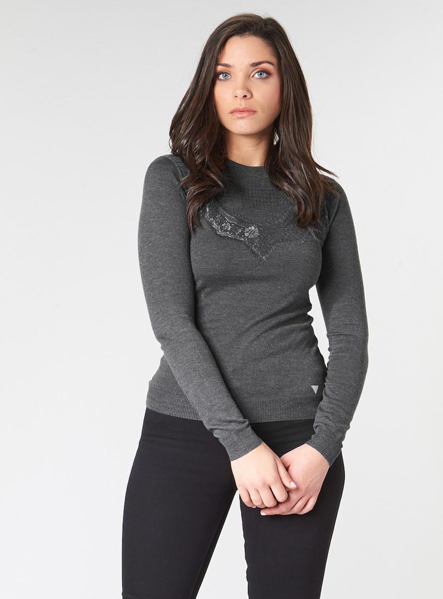 Guess dámský šedý svetřík se stojáčkem