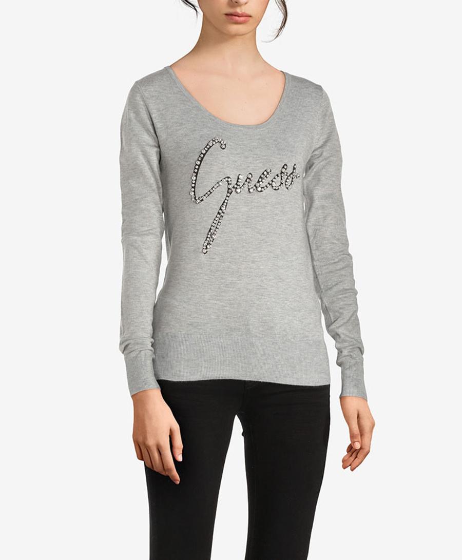 Guess dámský tenký šedý svetr - XS (LHY)