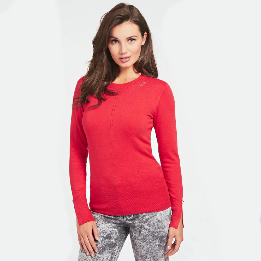 Guess dámský červený svetr - S (G5F0)
