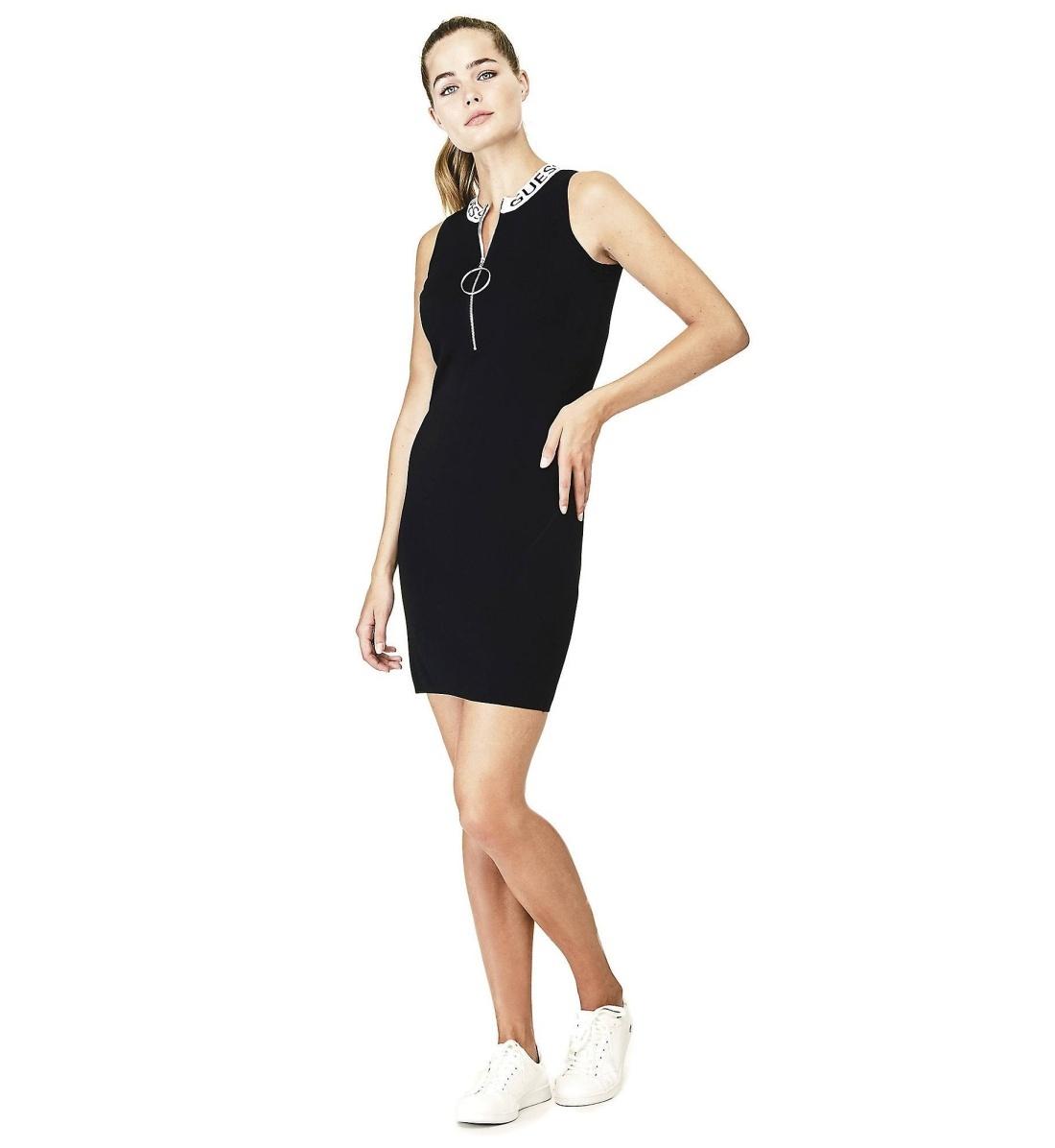 Guess dámské černé šaty - Mode.cz 0b5ec31ea1