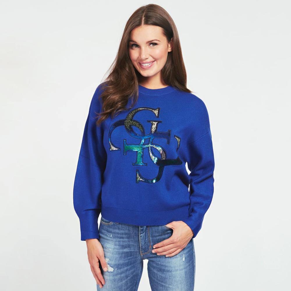 Guess dámský modrý svetr