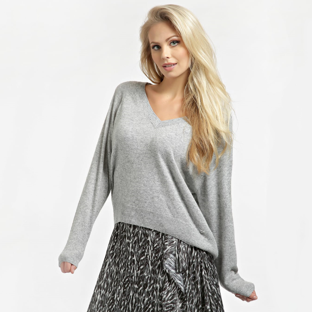 Guess dámský šedý svetr - M (LMGY)