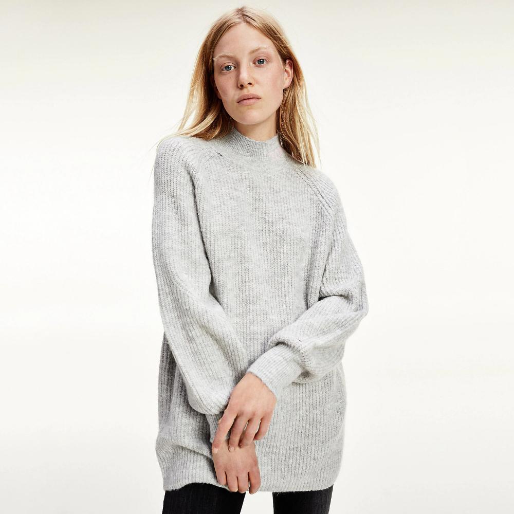 Tommy Jeans dámský šedý svetr - L (PJ4)