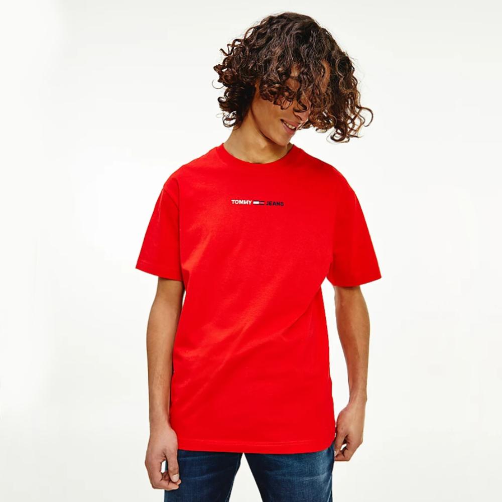 Tommy Jeans pánské červené triko