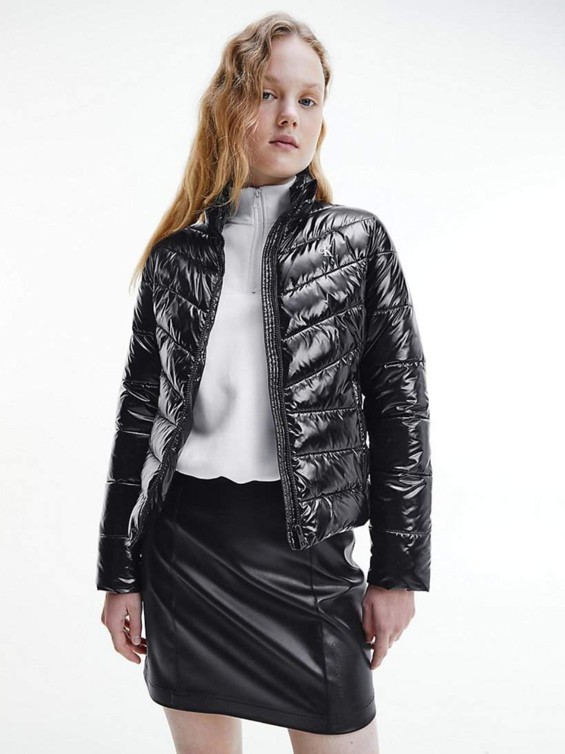 Calvin Klein dámská černá lesklá bunda