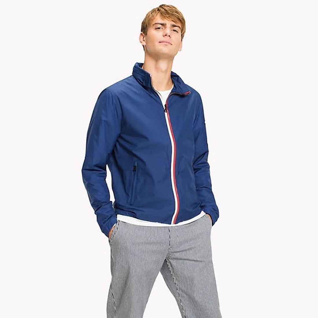Tommy Hilfiger pánská modrá bunda