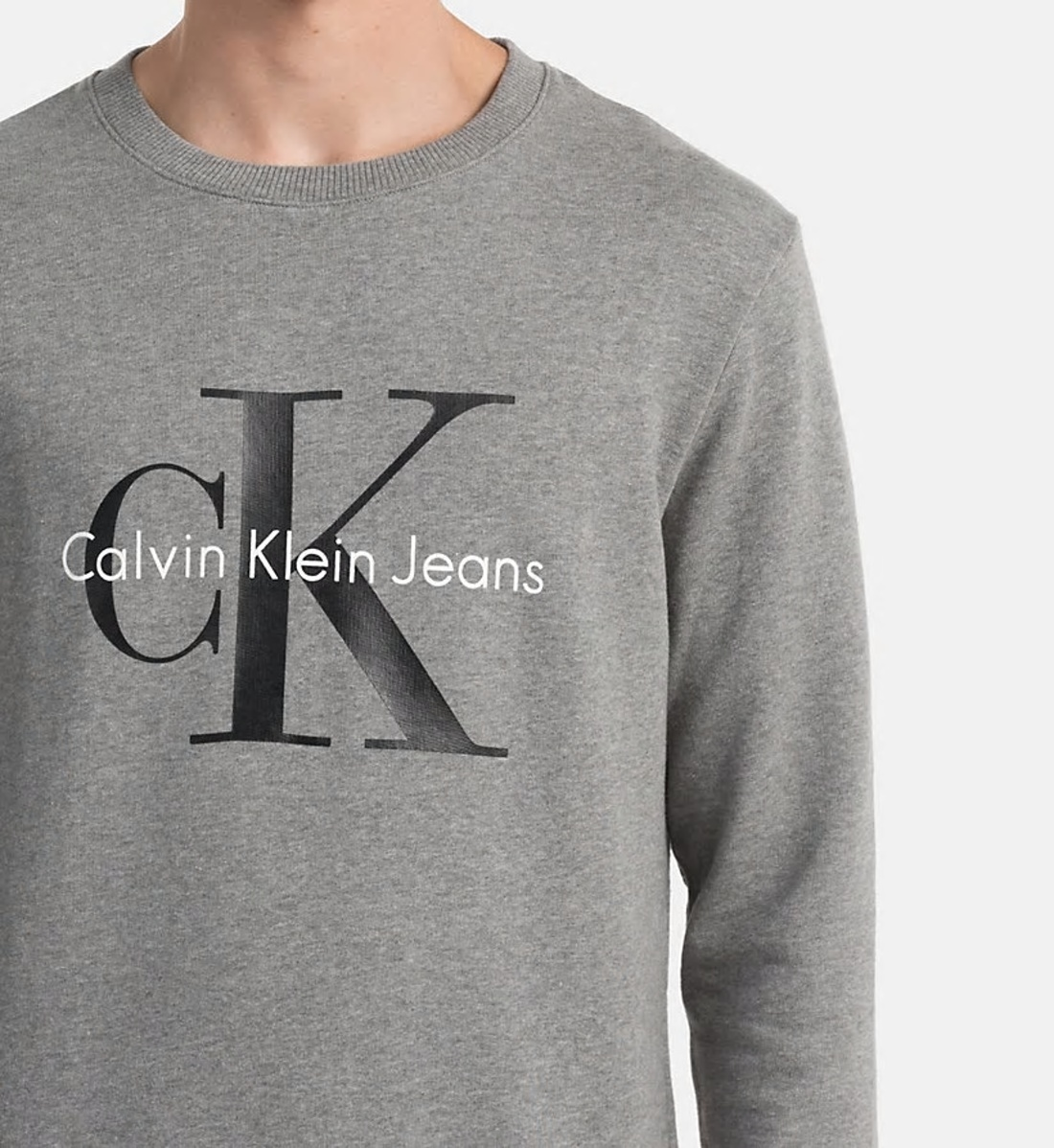 1e37d4329a Calvin Klein pánská šedá mikina - Mode.cz