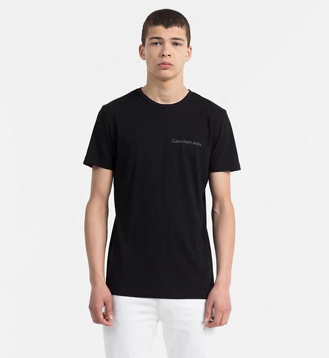 Calvin Klein pánské černé tričko Typoko - Mode.cz febe31ac29