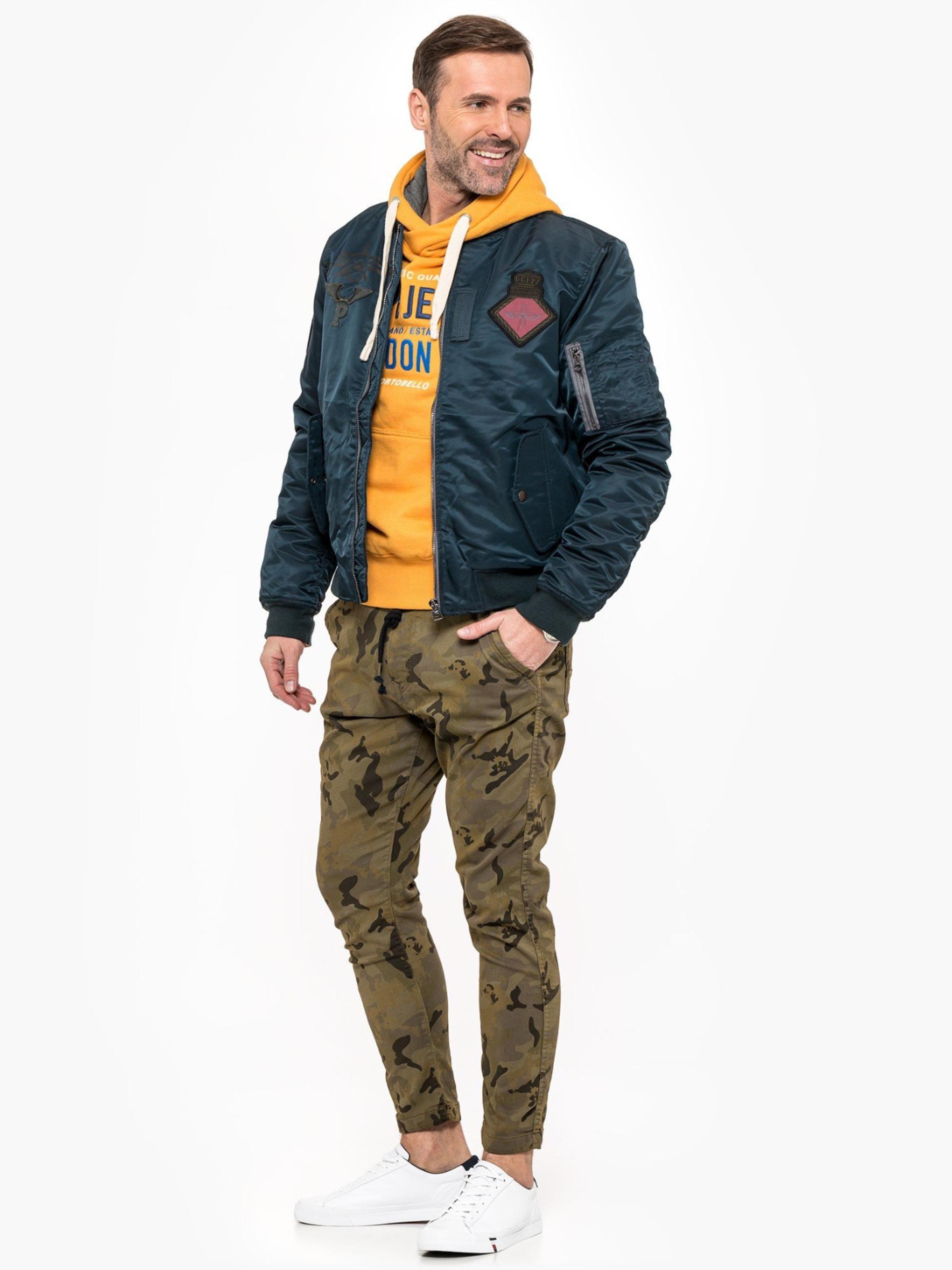 Pepe Jeans pánské army kalhoty Johnson Knit