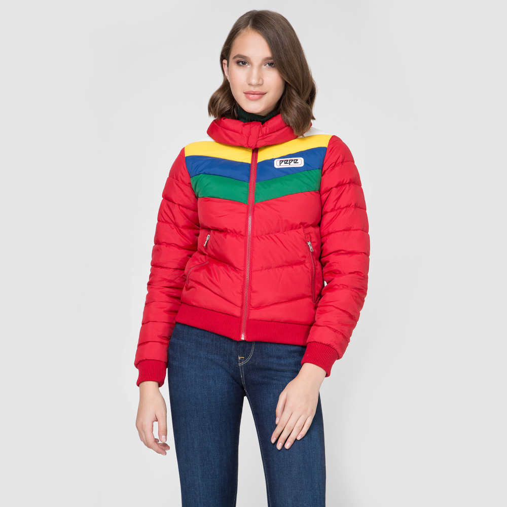 Pepe Jeans dámská červená zimní bunda Vika - S (280) Pepe Jeans