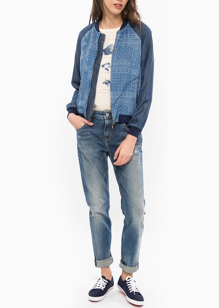 Pepe Jeans dámská tenká bundička Willow se vzorem
