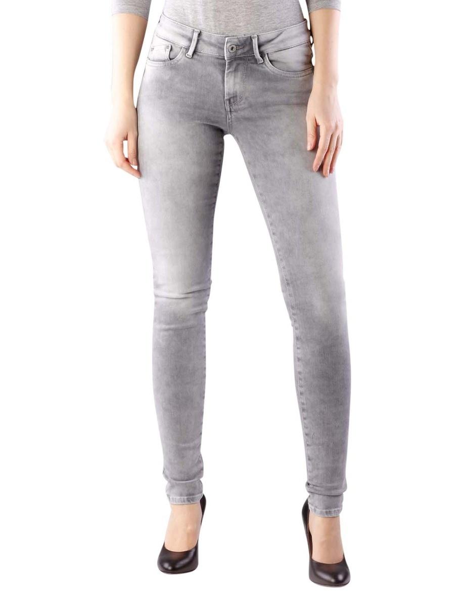 Levně Pepe Jeans dámské šedé džíny Pixie - 31/30 (0)