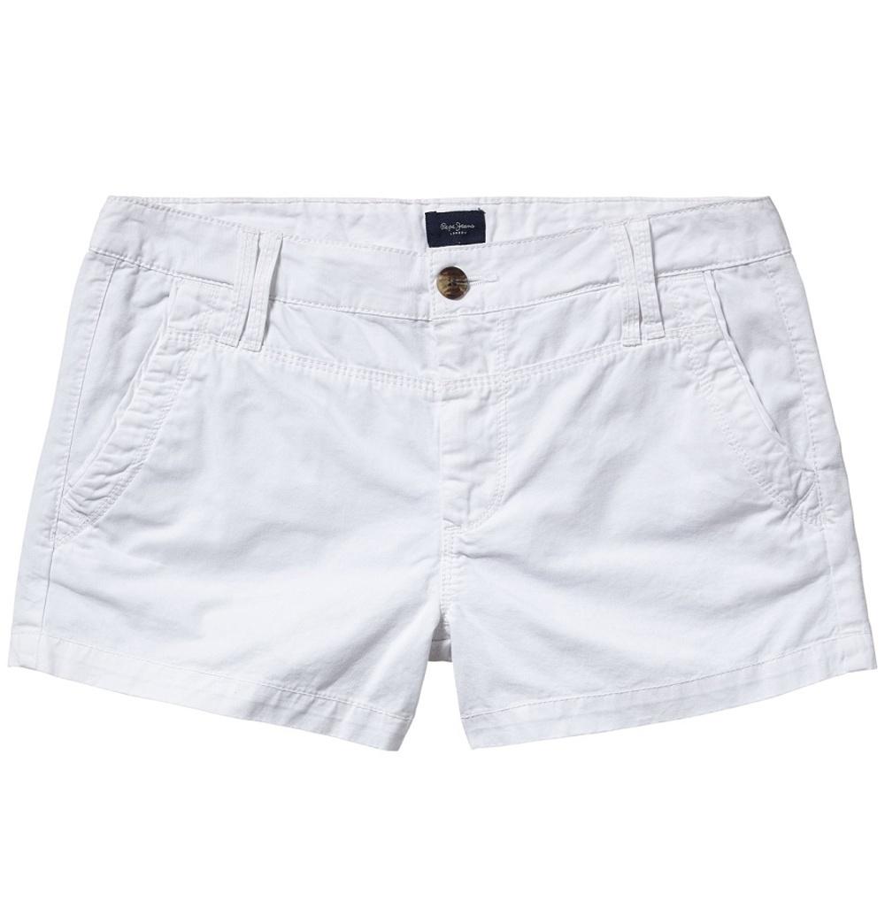 7ee52542fd9 Pepe Jeans dámské bílé šortky Balboa - Mode.cz