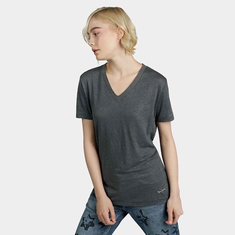 Levně Pepe Jeans dámské tmavě šedé tričko Marta - M (985)
