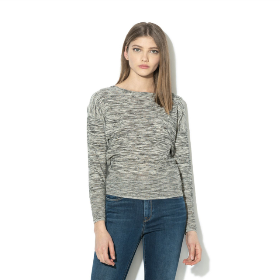 Pepe Jeans dámský šedý melírovaný svetřík Marga