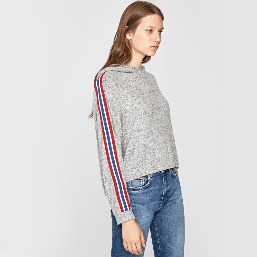 Pepe Jeans dámský šedý melírovaný svetr Nairobi