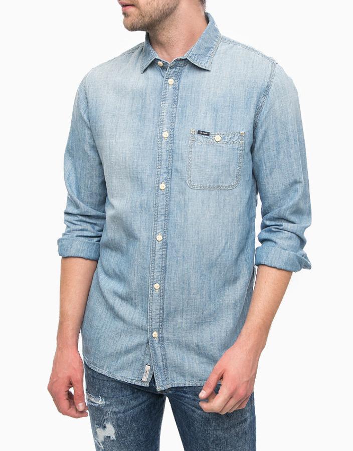Pepe Jeans pánská džínová košile Bigwae - L (000)
