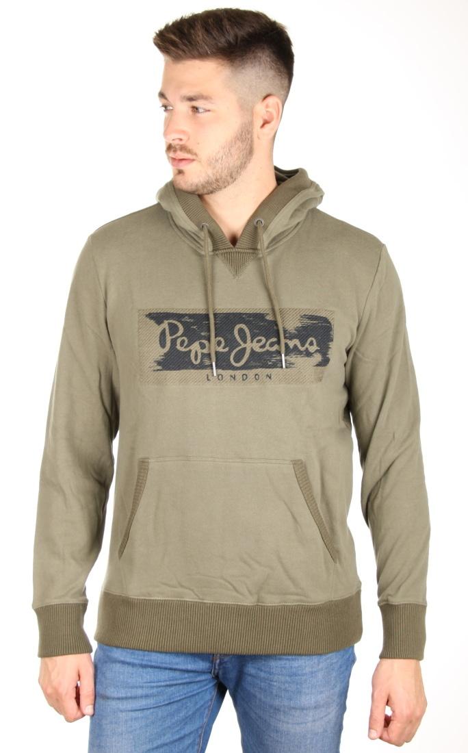 Pepe Jeans pánská khaki mikina Woodward - Mode.cz d5b3c62e2a