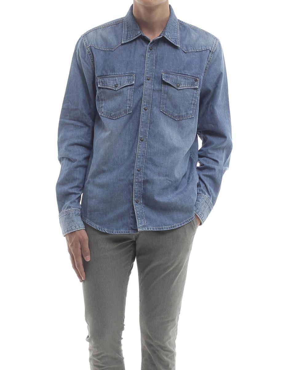 Pepe Jeans pánská džínová košile Carson - L (000)