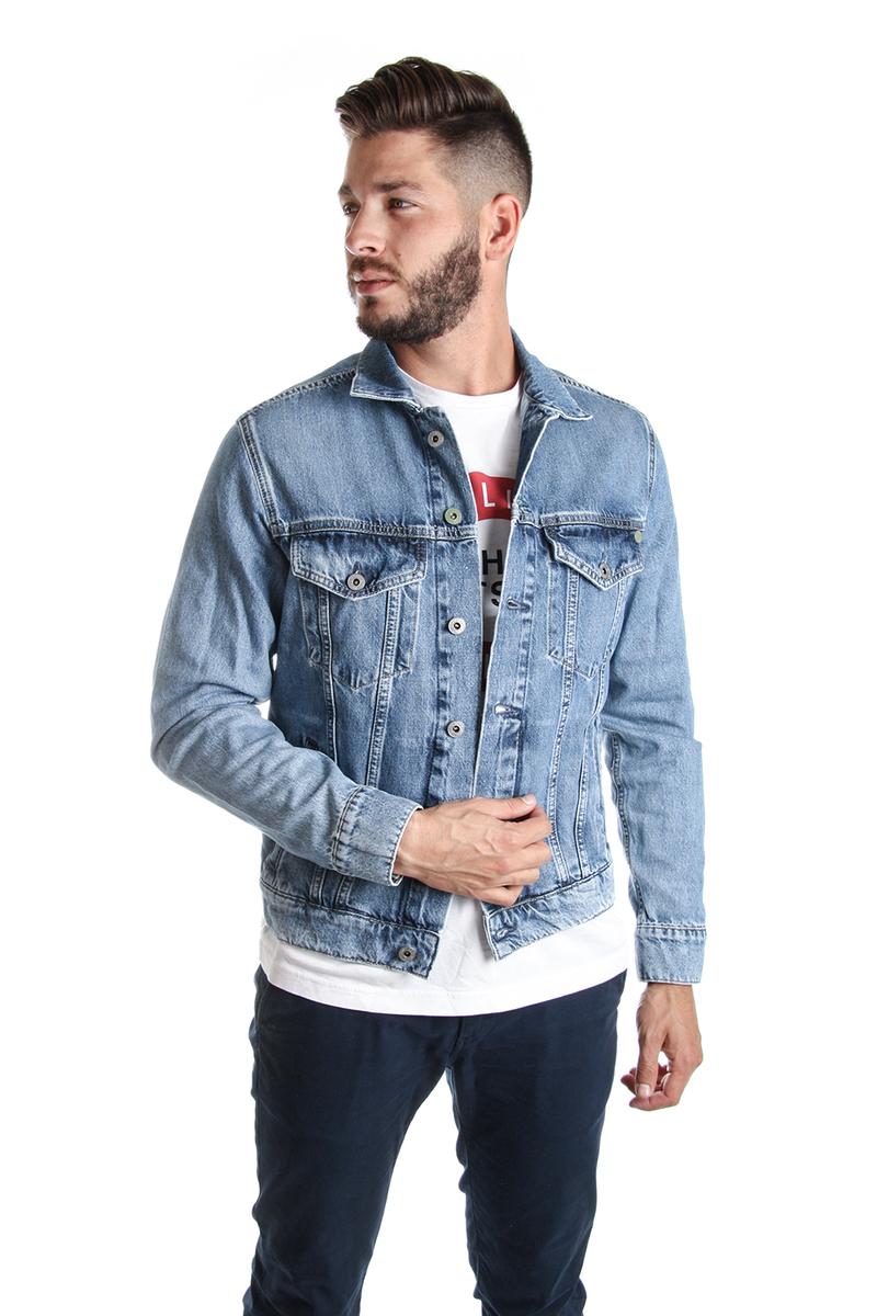 Pepe Jeans pánská modrá džínová bunda