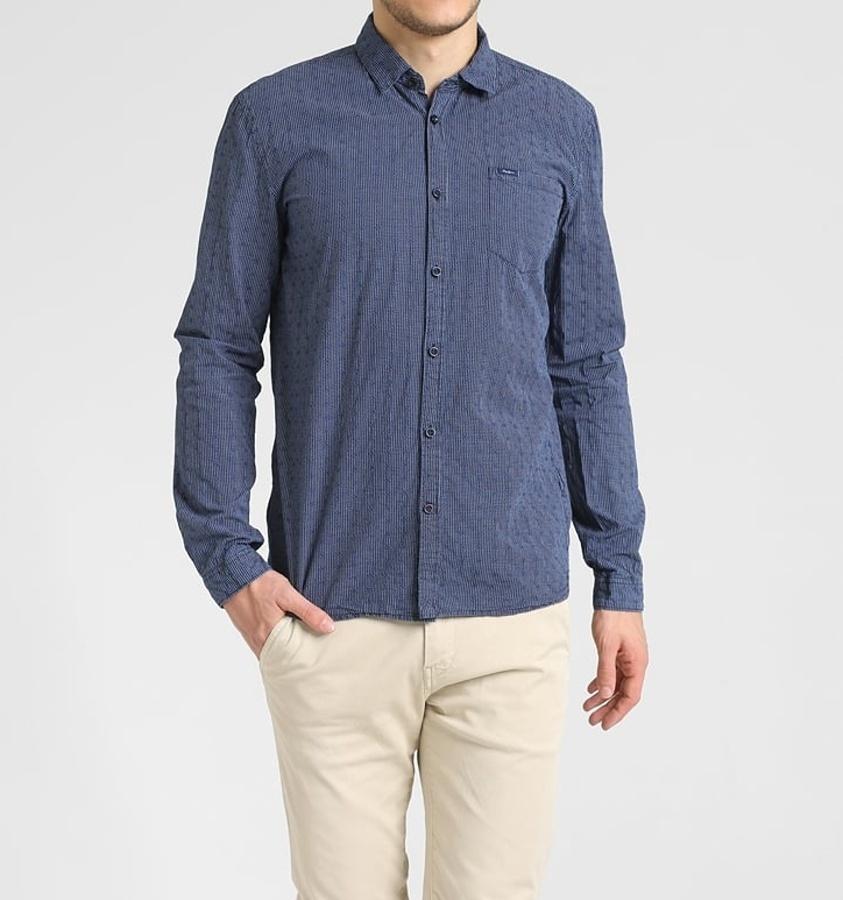 Pepe Jeans pánská modrá košile Juniper 3b2b95c2eb