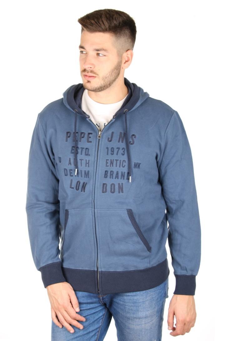 Pepe Jeans pánská modrá mikina Bridge - Mode.cz 58e23bccb8