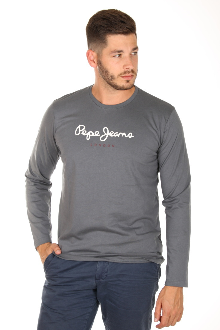 Pepe Jeans pánské tmavě šedé tričko Eggo - Mode.cz aabc68dbf1