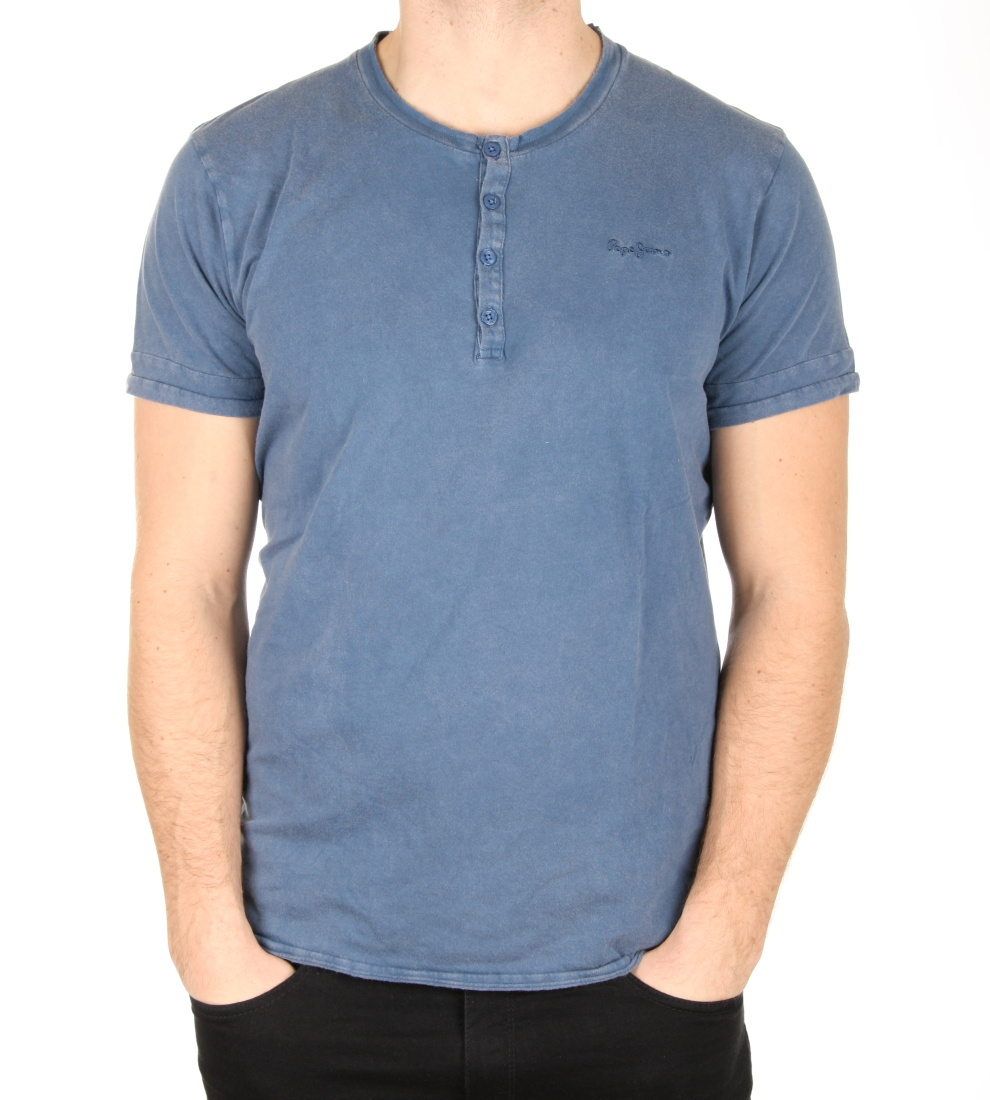 Pepe Jeans pánské modré tričko Davidson - Mode.cz a523aaf256