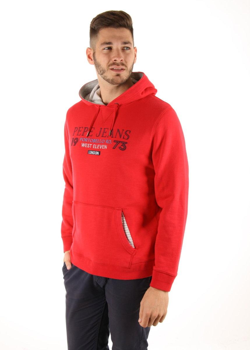 Pepe Jeans pánská červená mikina Vito - Mode.cz 0ac8561ed5