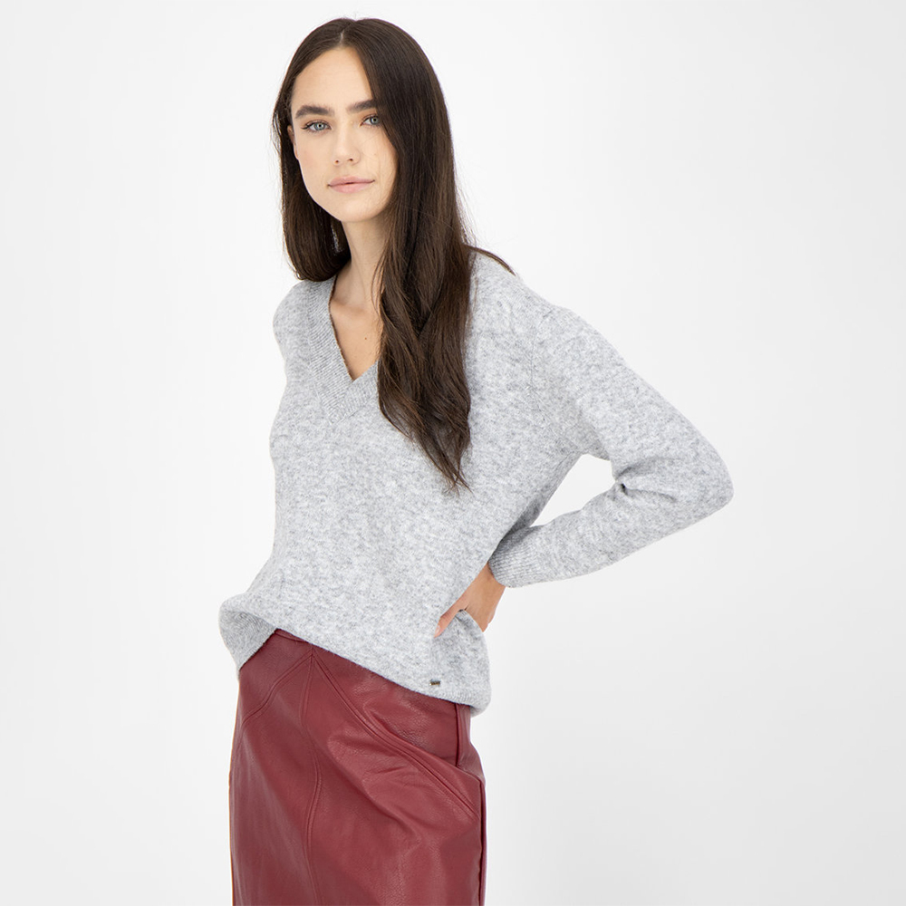 Pepe Jeans dámský šedý svetr
