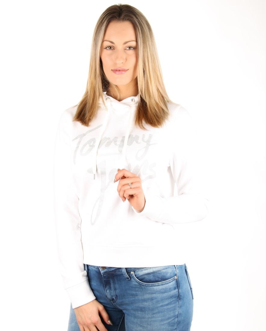 Tommy Hilfiger dámská bílá mikina Logo - XS (113)