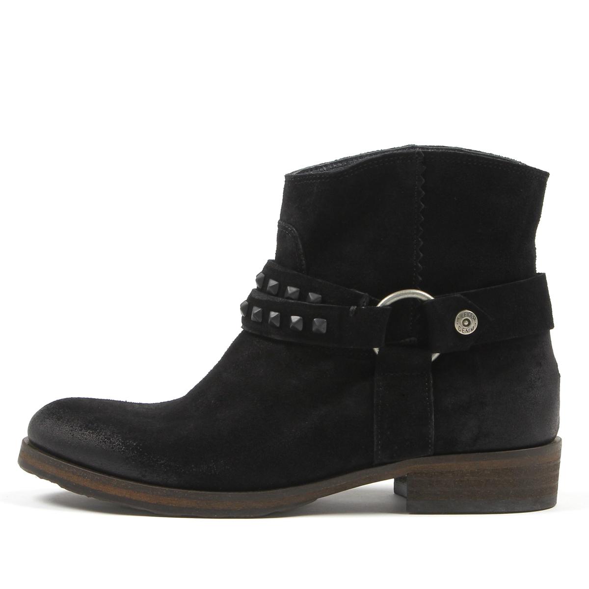 09c9ff190f2 Tommy Hilfiger dámské černé kožené boty Avive 7B - Mode.cz