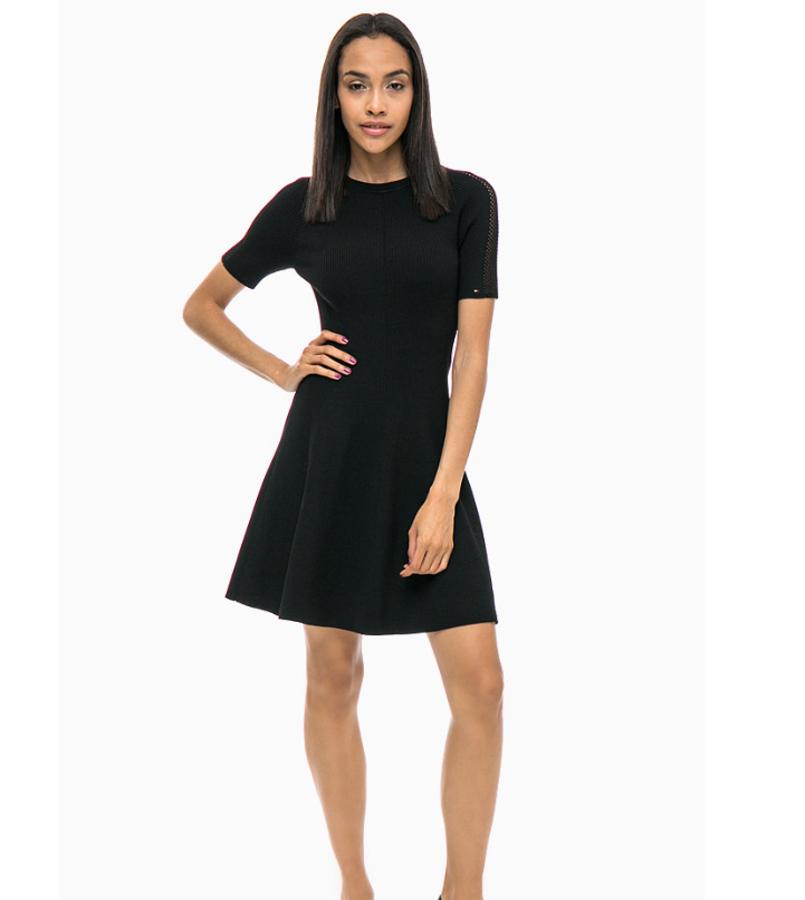 4c6f3d75b803 Tommy Hilfiger dámské černé šaty Rayana - Mode.cz