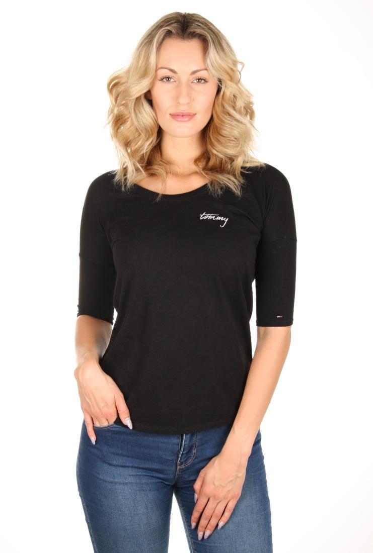 Tommy Hilfiger dámské černé tričko - Mode.cz b9fa08c72d