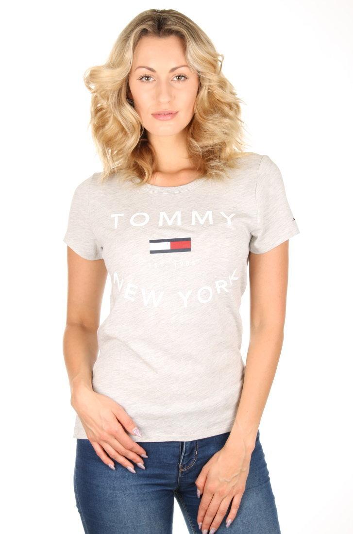 ad52ed966b8c Tommy Hilfiger dámské šedé tričko City - Mode.cz