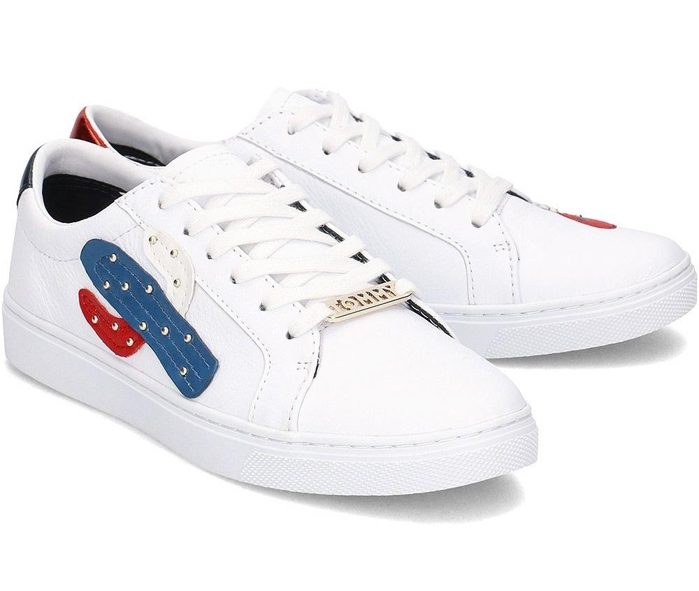 Tommy Hilfiger dámské bílé kožené tenisky Essential