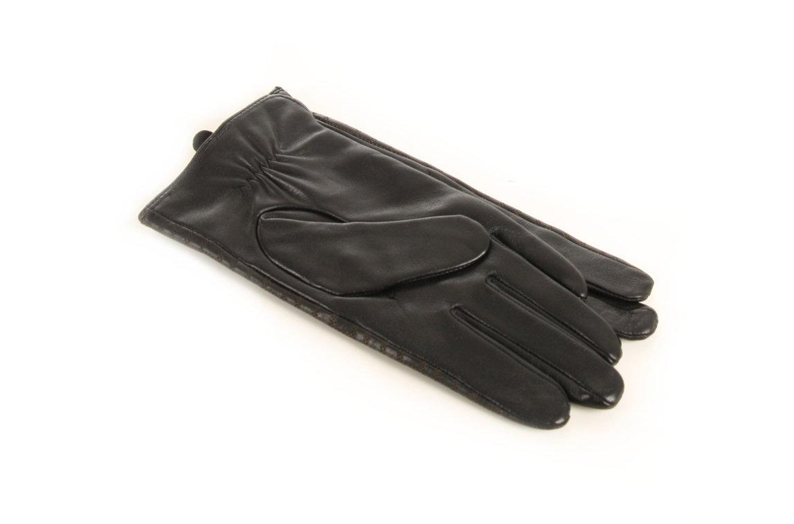 beec8bafa4e Tommy Hilfiger dámské kožené rukavice se vzorem - Mode.cz