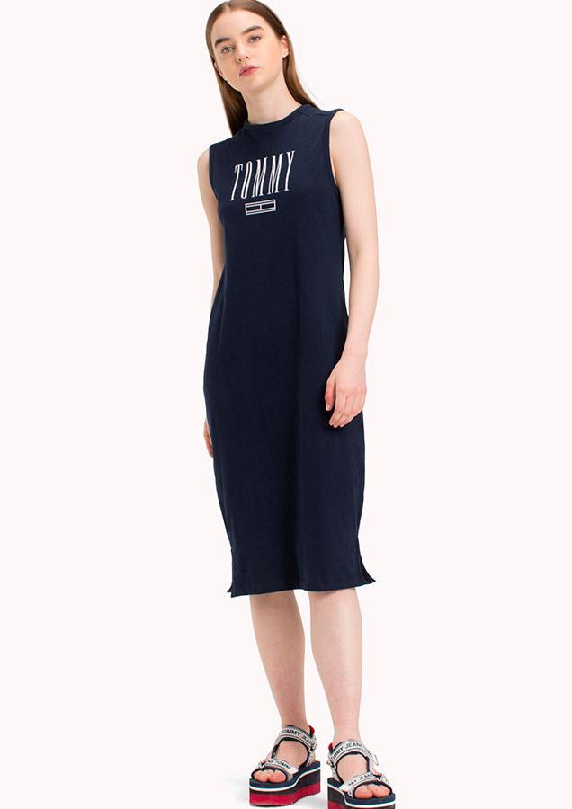 f7be95adff Tommy Hilfiger dámské modré šaty Logo - L (002)