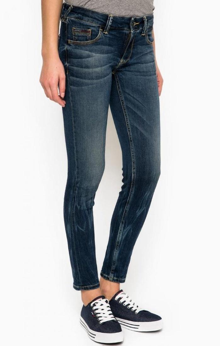 Tommy Hilfiger dámské modré džíny Low Rise - Mode.cz 4d548938d9