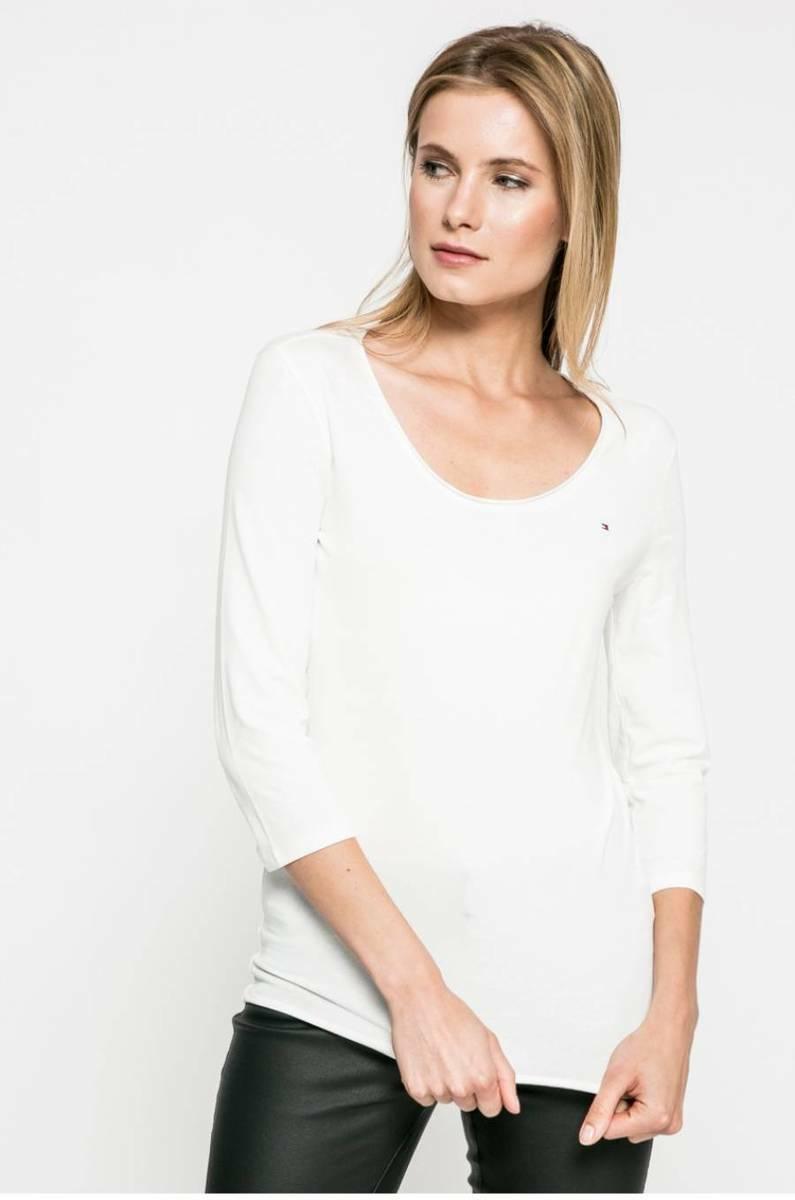 a8253e5cb663 Tommy Hilfiger dámské smetanově bílé tričko Lizzy