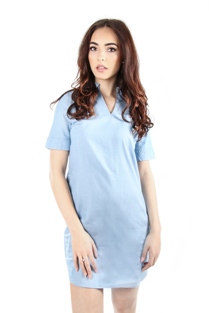 00bde256c590 Tommy Hilfiger dámské světle modré šaty Indigo