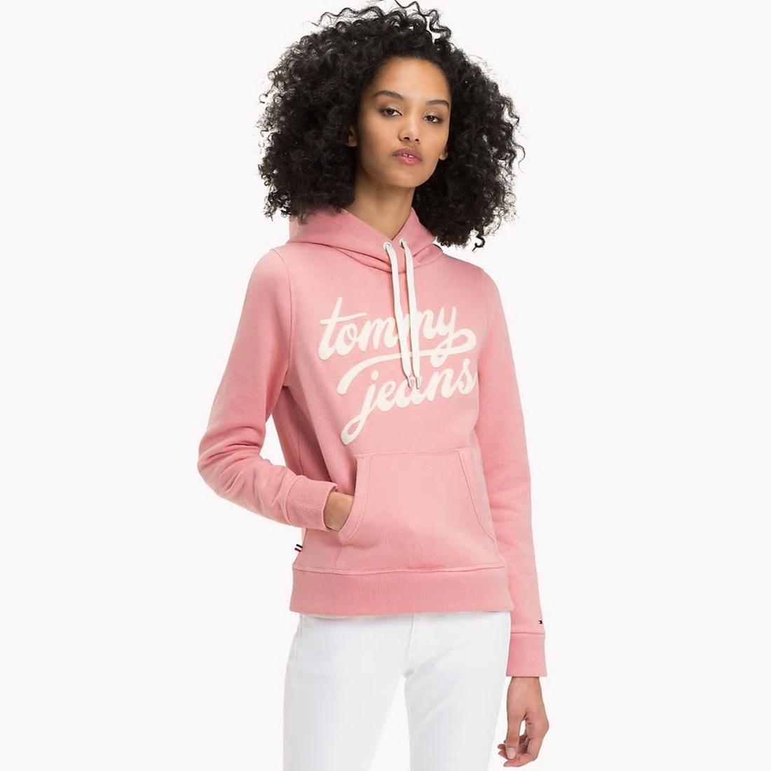Tommy Hilfiger dámská růžová mikina Basic