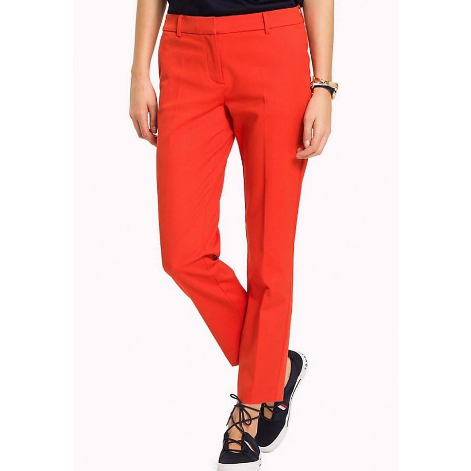 65637ab57a Tommy Hilfiger dámské červené kalhoty - Mode.cz