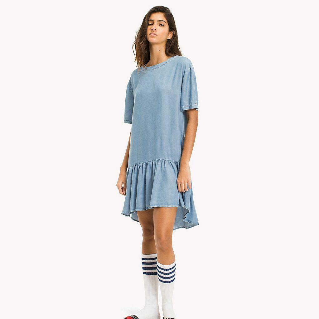 Tommy Hilfiger dámské džínové šaty Indigo - Mode.cz 93052d4c1b