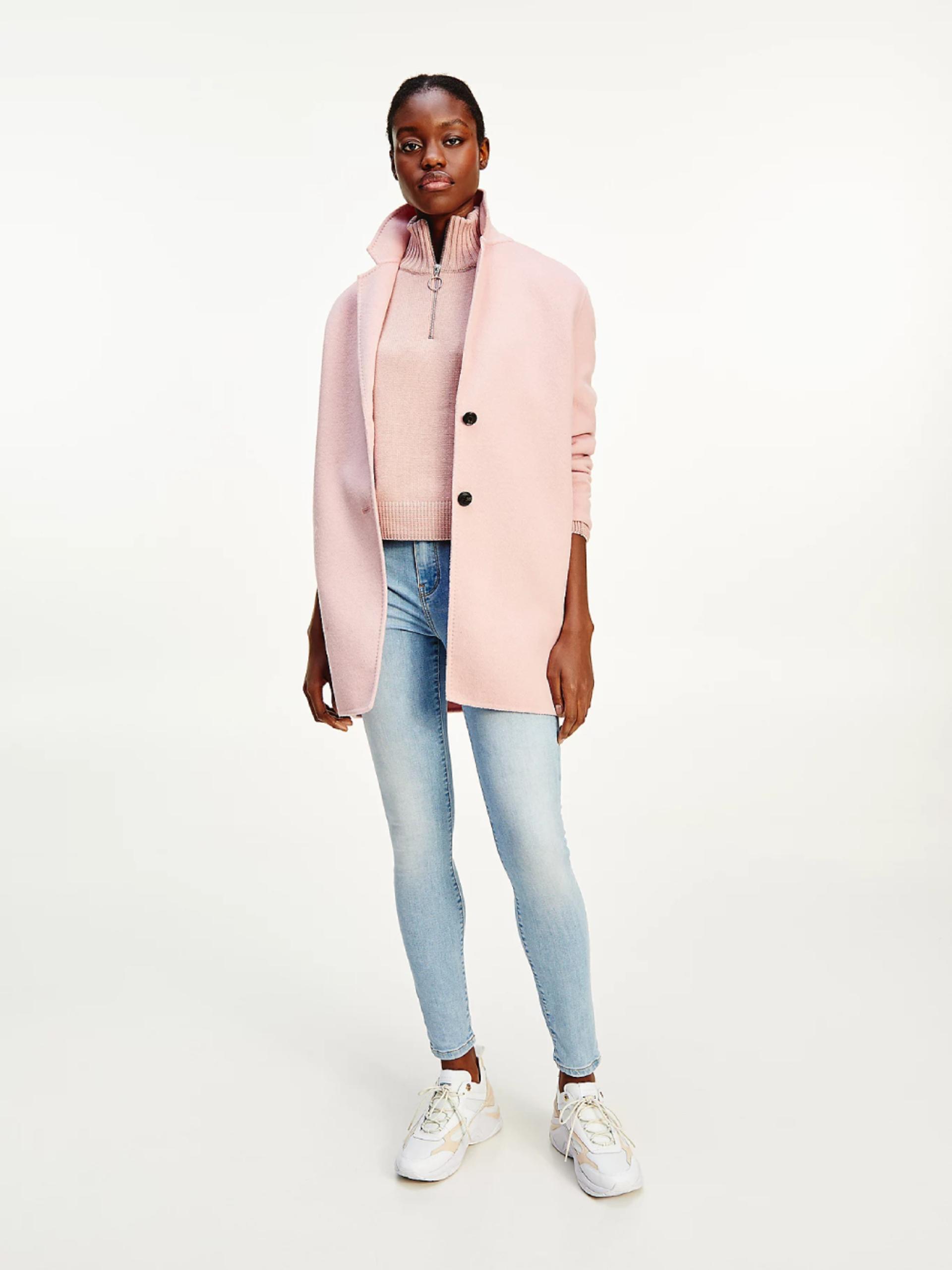 Tommy Hilfiger dámský růžový kabátek - 36 (TQS)