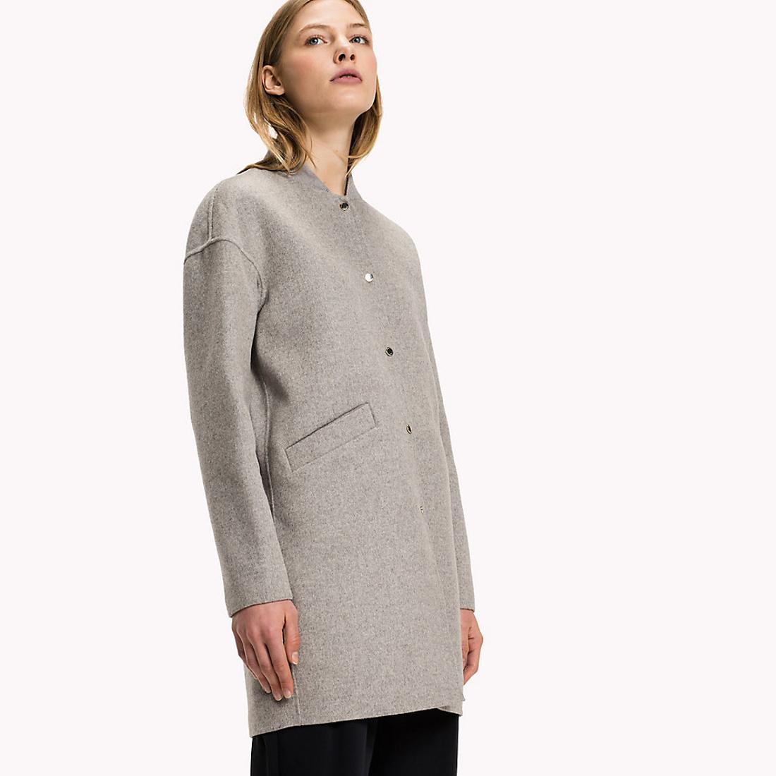 Tommy Hilfiger dámský šedý kabát Carmen - Mode.cz 200f3805480